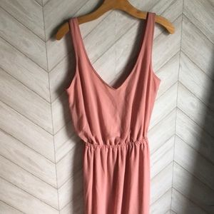New show me your mumu pink maxi dress s